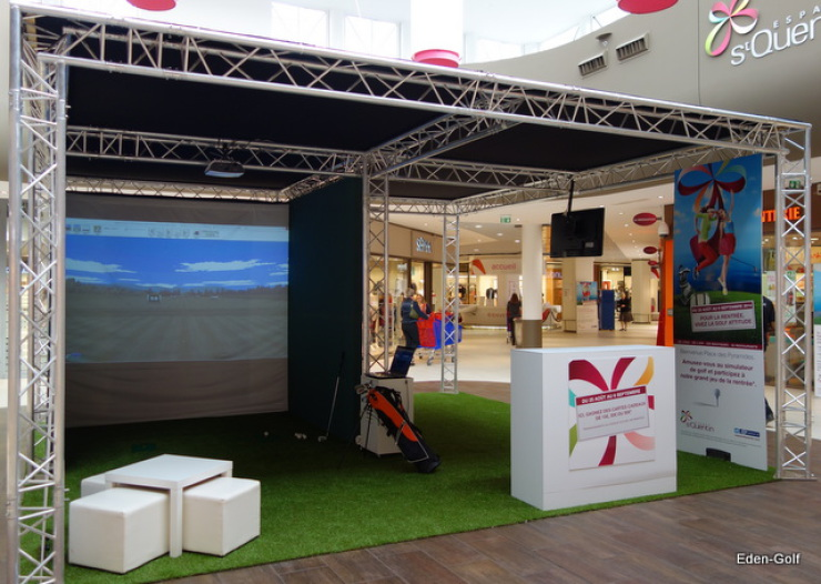 Animation golf au centre commercial SQY